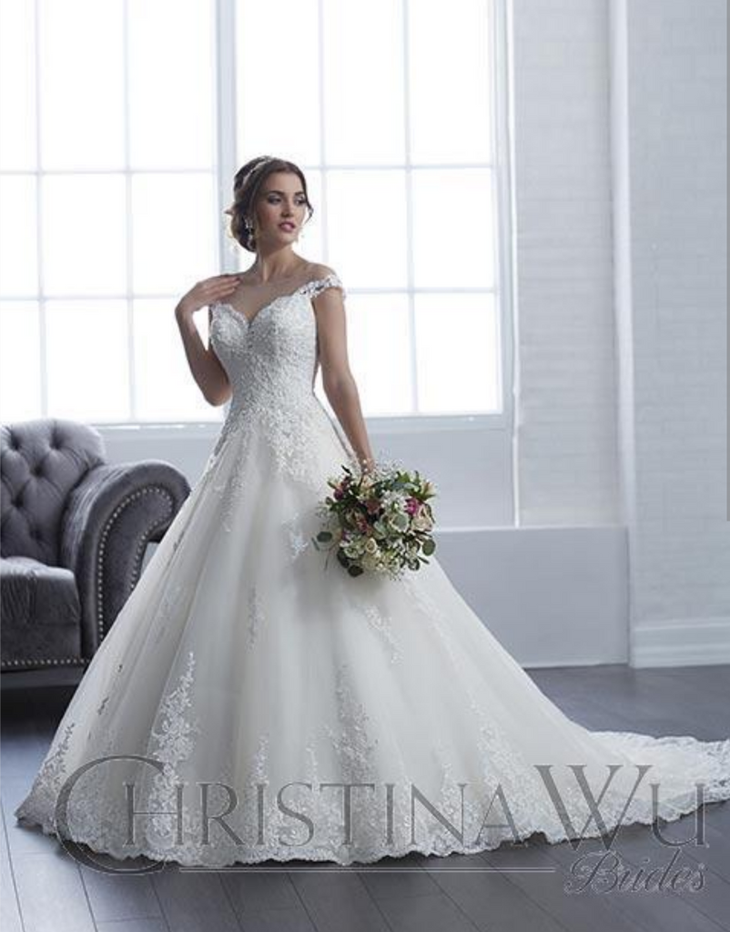 Wedding dress lace tulle by Designer