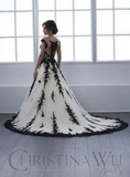 Black Wedding dress lace tulle by Designer