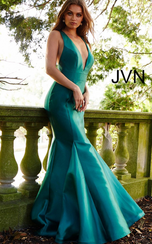 Jovani Designer dresses for prom and evening green..