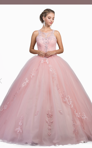 Copy of Copy of Quinceanera, sweet 16, engagement ball gown dress