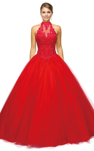 Quinceanera, sweet 16, engagement ball gown dress