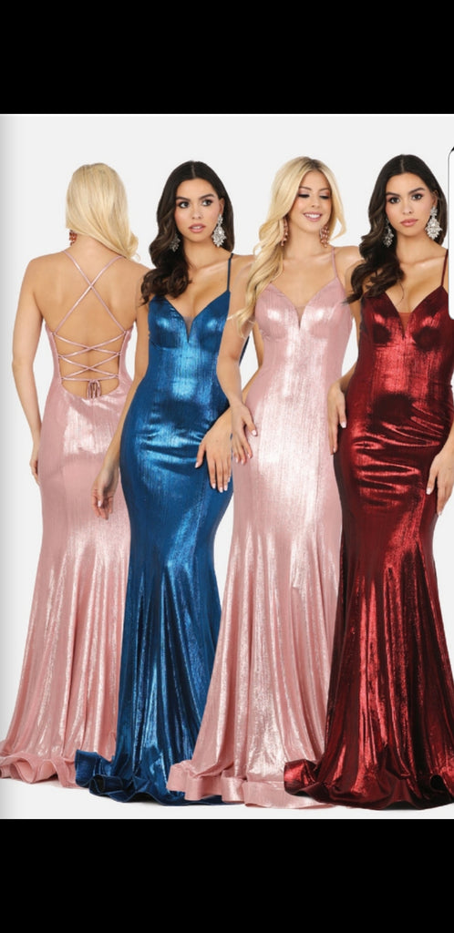 Copy of Black Fitted High Neck Glitter Jersey Prom Dress