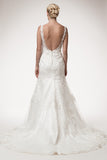 Wedding dress lace A-line ball gown SHORT SLEEVE, SWEETHEART NECK, TRUMPET
