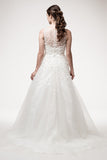 Wedding dress lace A-line ball gown SLEEVELESS, BATEAU NECK, A-LINE