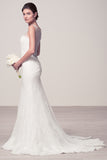 Wedding dress lace SLEEVELESS, SCOOP NECK, MERMAID