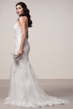 Wedding dress lace HALTER NECK, SLEEVELESS, BACKLESS, TRUMPET
