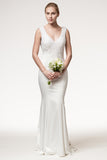 Wedding dress lace SLEEVELESS, V-NECK, TRUMPET