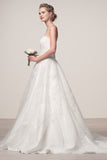 Wedding dress lace STRAPLESS, SWEETHEART NECK, A-LINE