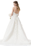 Wedding dress lace STRAPLESS, SWEETHEART, A-LINE