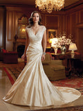 Sophia Tolli satin Wedding Dress lace A-line ball gown.