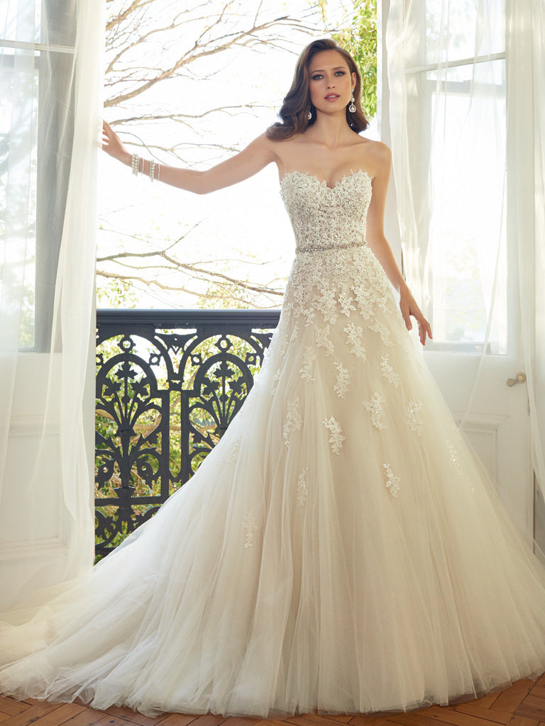 Sophia Tolli A-Line Sweetheart Tulle  Wedding Gown