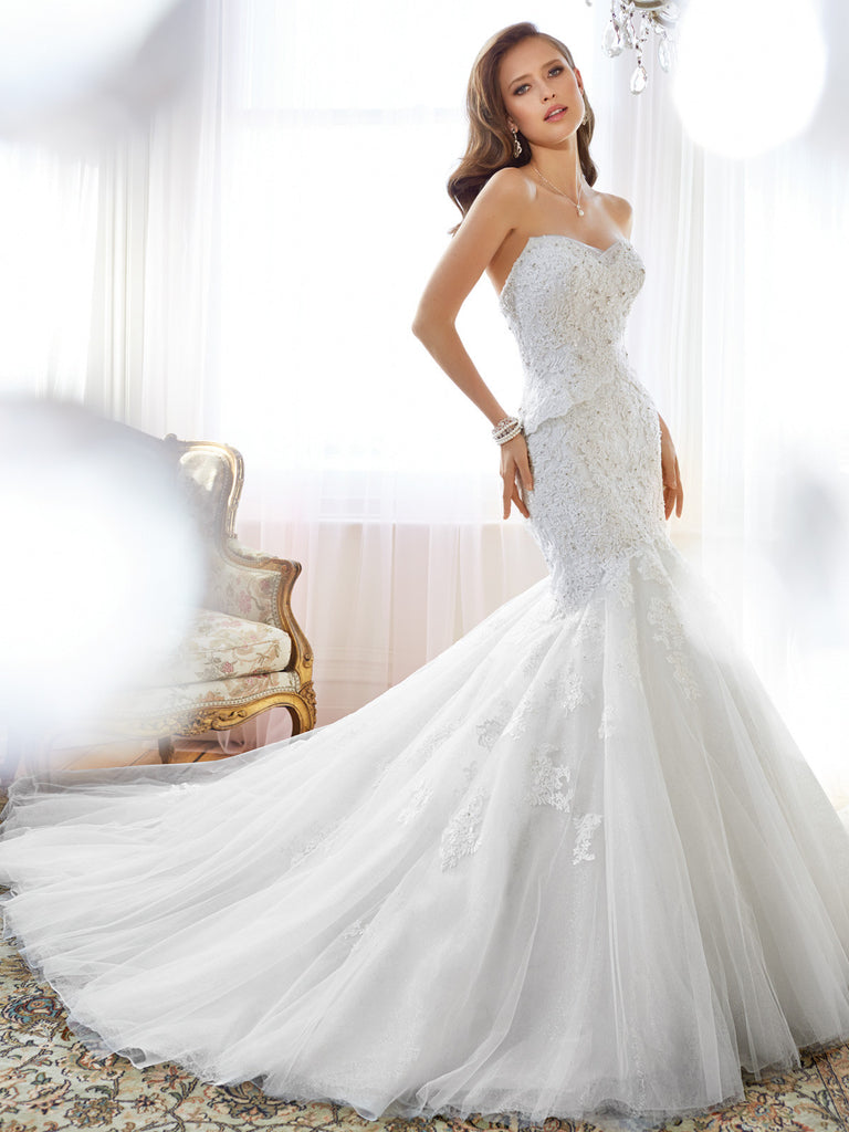 Sophia Tolli Sweethart neckline Mermaid Wedding Gown