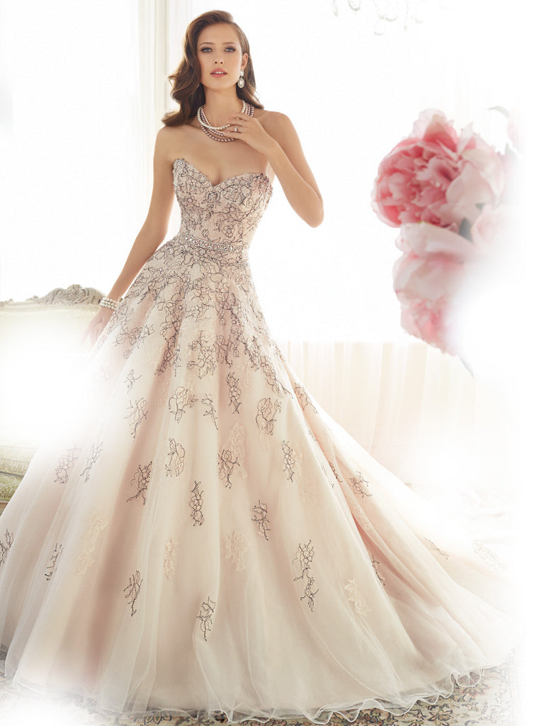 Satin Strapless Sweetheart Ball Gown Wedding Dress