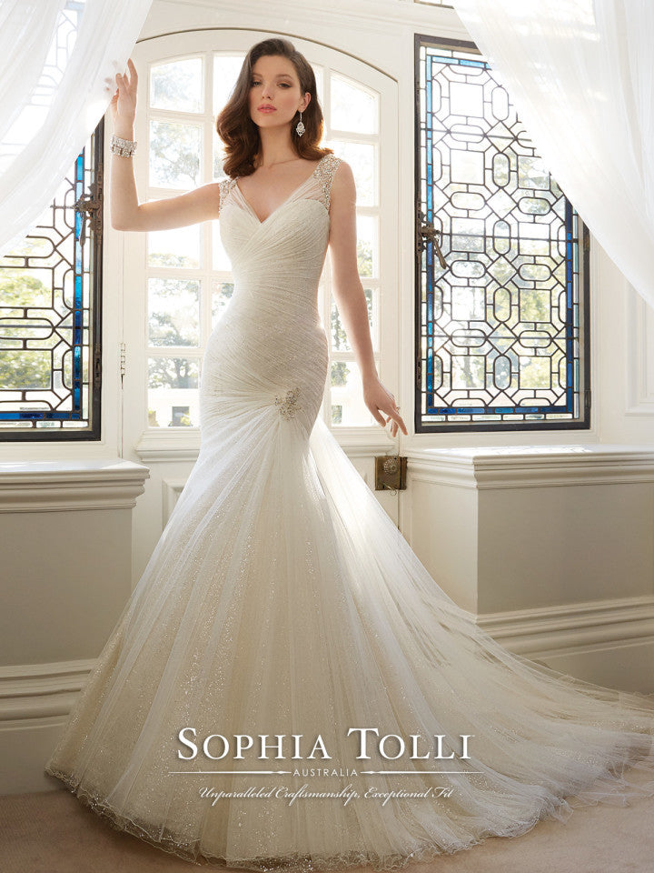 Sophia Tolli Wedding Dress lace lace mermaid trumpet gown – Bela Bridal