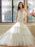 Sophia Tolli Wedding Dress tulle lace mermaid trumpet ball gown