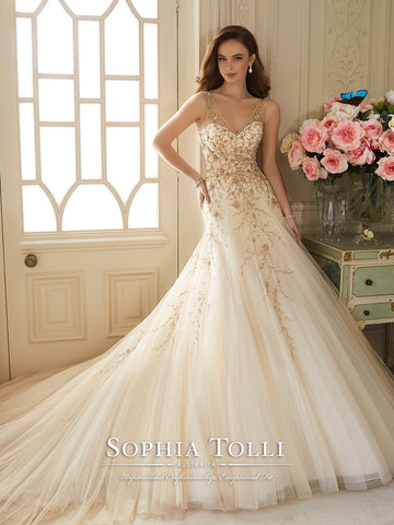Sophia Tolli Wedding Dress tulle lace A-line – Bela Bridal