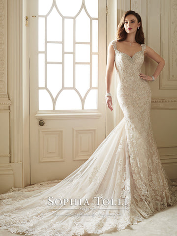 Sophia Tolli Wedding Dress tulle lace mermaid trumpet