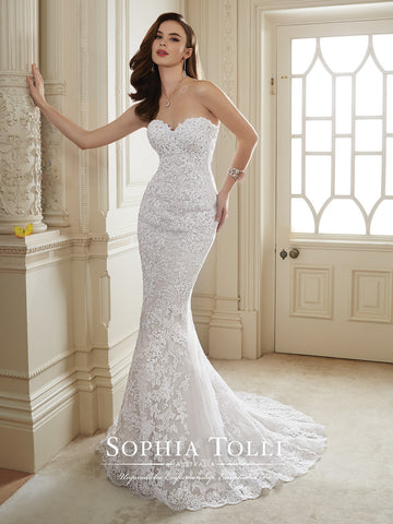 Sophia Tolli Two-piece Wedding Dress tulle lace mermaid trumpet ...