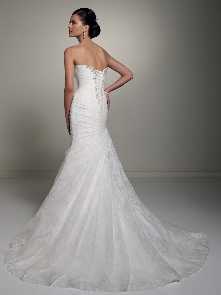 Sophia Tolli Wedding Dress satin lace mermaid trumpet