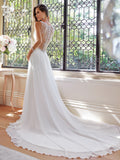 Sophia Tolli Wedding Dress satin lace A-line