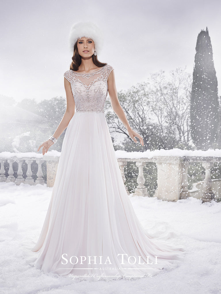 Sophia Tolli Wedding Dress chiffon A-line