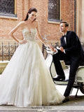 Sophia Tolli Strapless Shimmer Tulle Ball Gown Wedding Dress