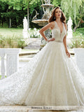 Sophia Tolli Sleeveless V-Neckline Ball Gown Wedding Dress
