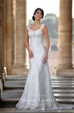Lace Satin mermaid trumpet ball Gown Wedding Dress