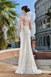 Lace mermaid trumpet ball gown Wedding Dress