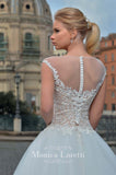 Lace sleeve a-line ball Gown Wedding Dress