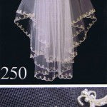 Wedding Bridal Beaded lace Rhinestone Elbow Length Veil