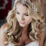 Wedding Bridal Beaded Rhinestone Hair Piece