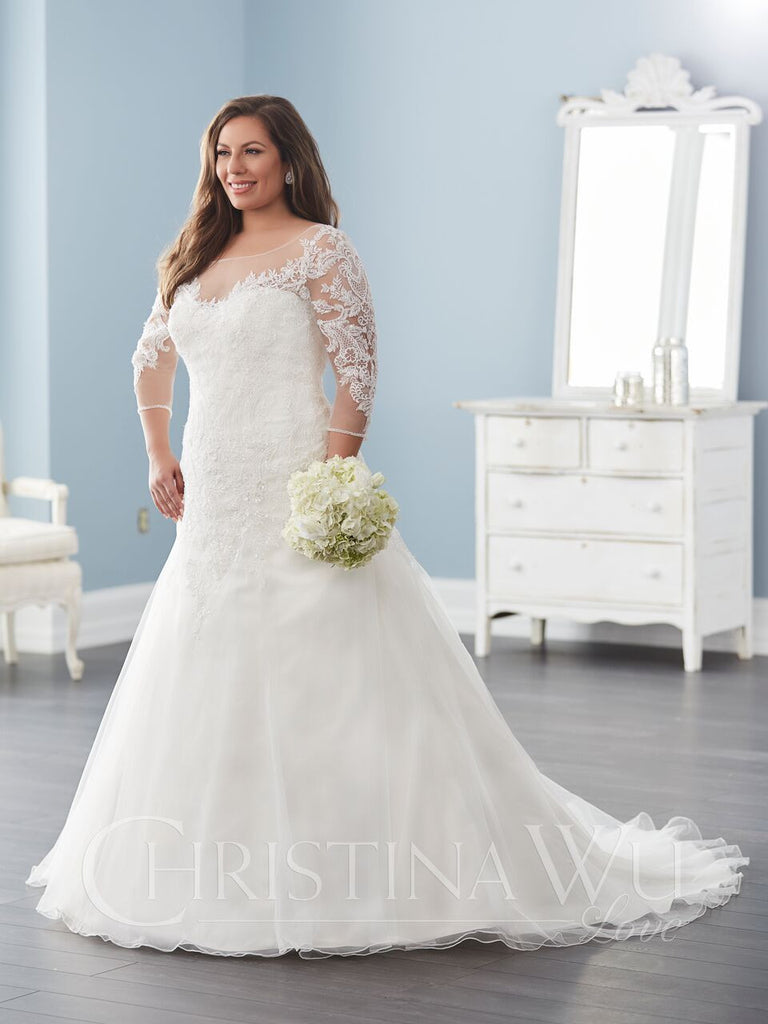 LACE Plus size A-LINE wedding Dress