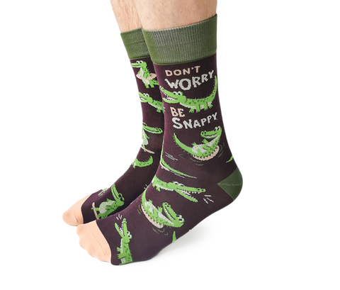 Men's fun novelty alligator socks