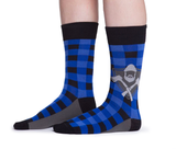 Blue mens lumberjack socks