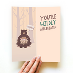 BEAR THANK YOU CARD AND NOVELTY SOCKS