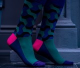 Cool Green Blue Dress Socks
