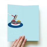 Curling Rocks Card - For Him