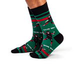 MENS-CREW NOVELTY-FOOTBALL-SOCKS