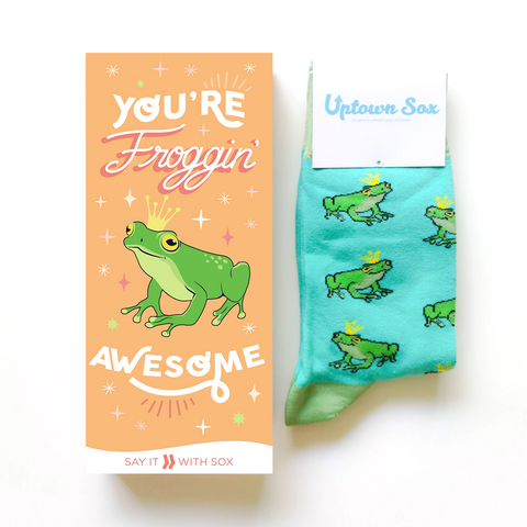 FROG GREETING CARD AND NOVELTY SOCKS
