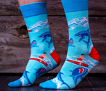 Surf Shark Cool Funky Crazy Dress Socks