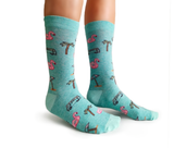 Women's Happy Birthday Flamingo Card and Socks