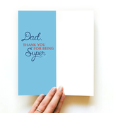 Father's Day Super Dad Card and Socks
