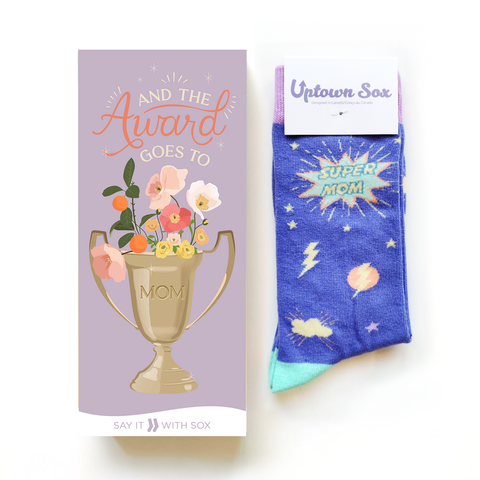 Mother's Day Super Mom Card and Socks