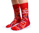 MENS-CREW NOVELTY-CANADA-RED-SOCKS
