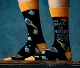 Whiskey Christmas Socks