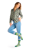 WOMENS-CREW NOVELTY-AVOCADO-GUAC-SOCKS
