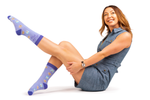 WOMENS-CREW NOVELTY-MILK-COOKIES-SOCKS