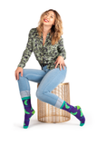 WOMENS-CREW NOVELTY-PICKLE-SOCKS