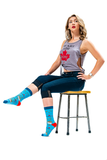 WOMENS-CREW NOVELTY-POUTINE-SOCKS